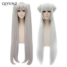 26.90$  Buy here - http://aic5g.worlditems.win/all/product.php?id=32587541895 - Kantai Collection Amatsukaze Women Long Straight Silver Fringe Anime Cosplay Wig