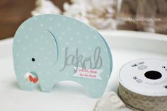 Cards / DIY / baby / elephant