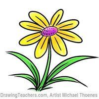 Cartoon Flower Drawing Tutorial