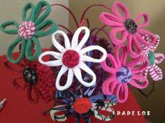 Orinales diademas elaboradas con tejido de algodón 100% dandole forma de flor en varios colores y combinaciones.