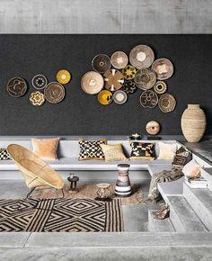Interior Design Living Room, Living Room Decor, Interior Decorating, Dining Room, Bedroom Decor, Decorating Ideas, Diy Interior, Ethnic Living Room, African Living Rooms