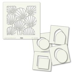 Found it at Blitsy - Claritystamp Stencil Set - Chinese Lanterns & Shapes