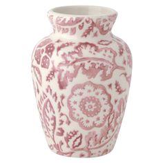 """""""Pink Wallpaper"""" Pink Wallpaper Mustard Vase at Emma Bridgewater"""