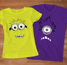 Despicable Me Minion Couples Tshirt Custom Couples by Sarimbittees, $32.00