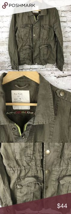 Free people military style jacket 6 Good condition & very cute! Free People Jackets & Coats Utility Jackets