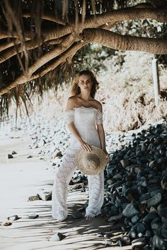EDITORIAL: WINDSWEPT // #jumpsuit #playsuit #pants #lace #offtheshoulder #thurley #fashion #bride #bridal #inspiration #byronbay #beach #barefoot #wedding #bohemian