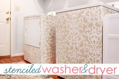 STENCILED WASHER & DRYER: give a makeover to your laundry room with a fresh stencil, paint & poly.