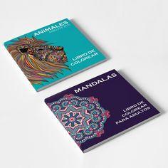 PAQUETE DE 2 LIBROS PARA COLOREAR: MANDALAS Y ANIMALES: DIBUJOS ZEN.
