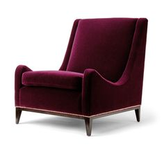 perfect deep jewel-tone color and texture for creating mood in a room.... Sloop Chair - Amy Somerville
