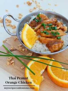 Thai-Peanut-Orange-Chicken. Oh baby, this dish makes me want to sing from the roof tops it is so good! The best thing about it is that it is super fast and easy too!