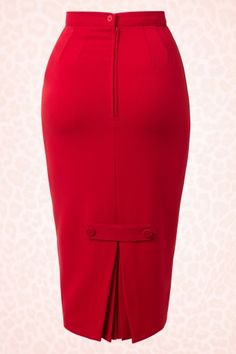 Bunny - 50s Joni Skirt in Red