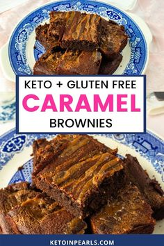 Keto and gluten-free caramel brownies are easy to put together. Rich chocolate and velvety caramel grace these almond flour brownies with sweet decadence! These gluten-free brownies taste anything but healthy and are sure to satisfy any sweet tooth. At only 4.7 net carbs each, this keto brownie recipe is sure to be a new family favorite. #brownies #ketobrownies #glutenfree #keto #almondflour #ketodessert #ketodessertrecipes