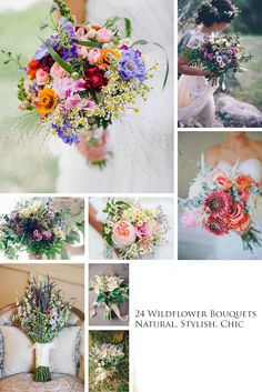 24 Wildflower Wedding Bouquets Not Just For The Country Wedding ❤  The natural beauty of wildflowers means you can use them for most wedding themes. See more: http://www.weddingforward.com/wildflower-wedding-bouquets/ #wedding #bouquet