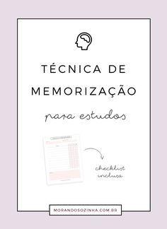 Você tem dificuldade de memorizar o que aprendeu durante um período de estudos? Nesse post você encontra dicas valiosas sobre memorização para estudos.