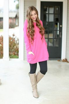 Walking on Sunshine Sweatshirt Dress - Pink   Hazel & Olive