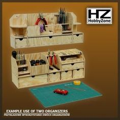 Cool site for wood organizers - Hobby Zone