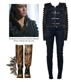 Commander Lexa - The 100 by shadyannon on Polyvore featuring polyvore fashion style Balmain Kenzo Free People Pamela Love clothing