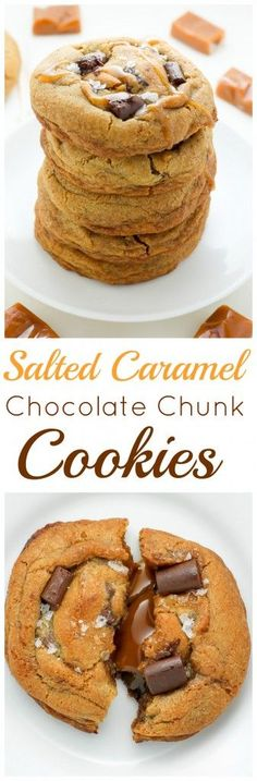Salted Caramel Stuffed Chocolate Chunk Cookies - treat yourself to these incredible cookies ASAP!