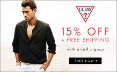 Guess: 50-60% Off Sale Items! Clothing Store Sales, Guess Clothing, Men's Apparel, Sale Items, 50th, Shop Now, Blazer, Jackets, Shopping