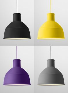 yellow & grey pendant lights - Google Search