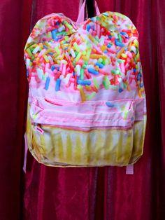 NWT Girl's Backpack Back To School Cupcake Sprinkles Padded Adjustable Straps