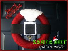 santa belt wreath #christmas