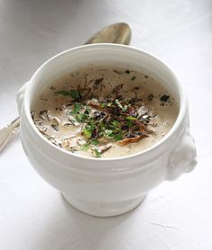 A luxurious wild mushroom sauce with stout (made with dried mushrooms, so don't worry about getting specialty items around Christmas!)