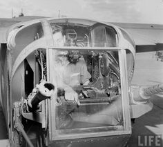 B-24 'Liberator' tail turret. Smyrna Army Airfield, TN, USA. October 1942.