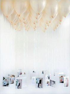 Fotos penduraras em balões