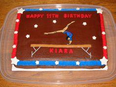 Gymnastics Birthday Cake cakepins.com
