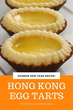 40 minutes · Vegetarian · Serves 12 · If you have ever had egg custard tarts and liked them, you simply must make these Hong Kong Egg Tarts! Tart Recipes, Soup Recipes, Dessert Recipes, Cooking Recipes, Chicken Recipes, Egg Desserts, Pastry Recipes, Chinese Egg Tart, Chinese Egg Custard Recipe