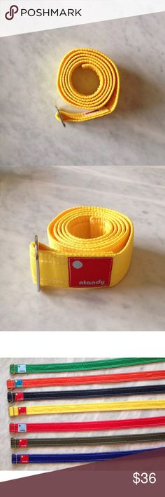 "Nylon Belt Yellow by ntandy, Size Medium Nylon Belt Yellow designed by ntandy, Size Medium, unisex $44 retail, Medium (31""-36"") ntandy Accessories Belts"