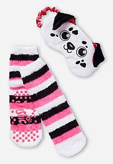 Dog Eye Mask & Socks Set