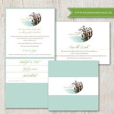 Hochzeit Einladung | Wedding invitation | Save the date | Seehochzeit |lake wedding |Schilf