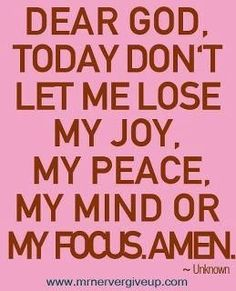 AMEN! The Devil is alive... he has come to steal your joy, peace of mind and wants you confused.... Dont let him!