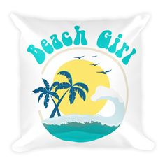 Now available in our store. Check it out here http://j-s-graphics.myshopify.com/products/beach-girl-tropical-island-palm-tree-design-square-pillow?utm_campaign=social_autopilot&utm_source=pin&utm_medium=pin