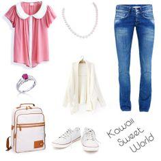 Kawaii Sweet World: Outfit + maquillaje + Peinado + uñas [[ULZZANG STYLE]] *pink*