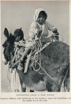Cyprus 1928 child on donkey Cyprus Greece, Old Greek, History Photos, National Geographic, Ancient Artifacts, Greek Islands, Old Photos, Horses, Greeks