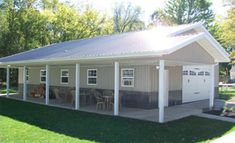 36 X 48 W 8 Porch Amp Greenhouse Troy Built Buildings Custom Built Pole Barns And Metal
