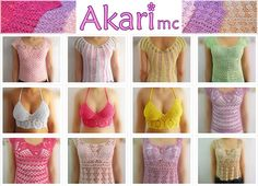 Crochet blouse Pure cotton Spring  Summer by AKARImc,