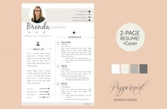 Check out Resume Template + Cover Letter WORD by PAPPERMINT on Creative Market