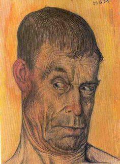 44-Gustave Van De Woestyne watercolor, pastel, pencil on paper