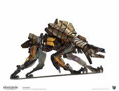 Horizon Zero Dawn Concept Art - Scrapper