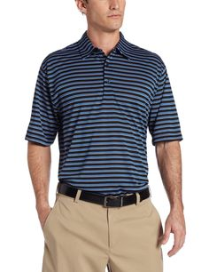 e17785b65e24 With soil release and moisture wicking technology this mens Sorbtek multi  stripe golf polo shirt by Greg Norman will ensure you have a dry and  comfortable ...