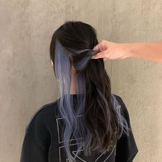 Under Hair Dye, Under Hair Color, Half Dyed Hair, Split Dyed Hair, Dyed Hair Ombre, Dyed Black Hair, Hair Color Streaks, Hair Color Purple, Hair Dye Colors