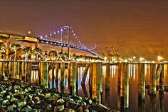 """Vincent Thomas Bridge "" by Randy Galitz, via 500px."