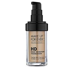 MUFE HD Invisible Cover Foundation; medium to full coverage; oil free, flawless finish