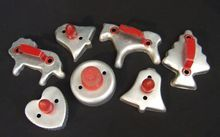 Metal Cookie Cutters with Red Handles Cottage Style