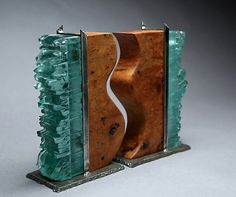 Together by Mark+Wentz: Art+Glass+&+Wood+Sculpture available at www.artfulhome.com