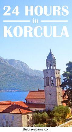 24 hours in Korcula Town, Croatia - by: The Brave Dame #korcula #island #croatia #beach #travel #travelblogger